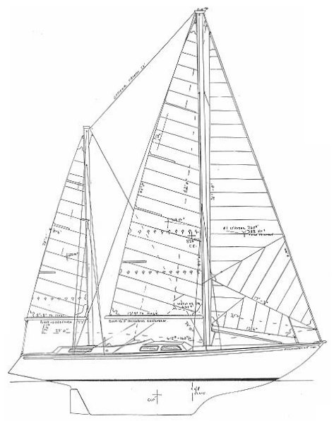 Seamaster 47 drawing on sailboatdata.com