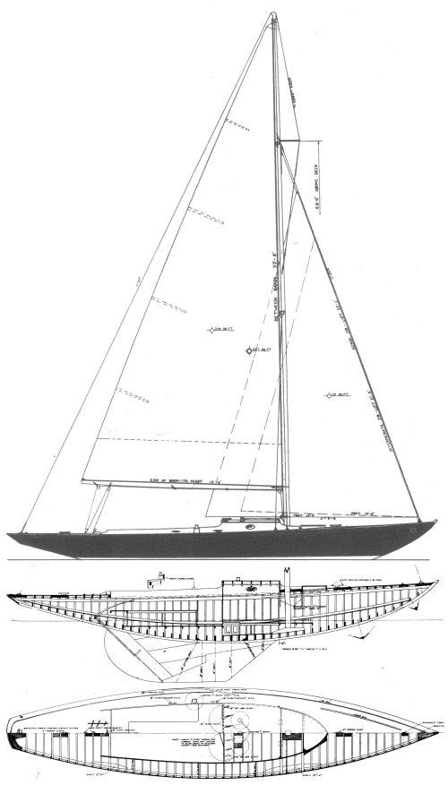 SEAWANHAKA ONE-DESIGN (S&S) drawing