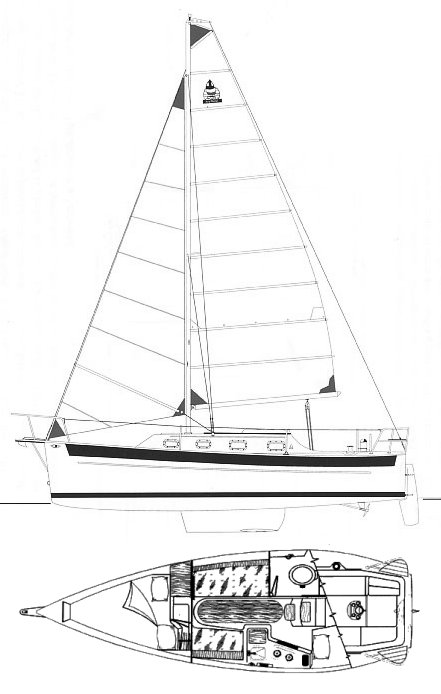 Seaward 25 drawing on sailboatdata.com