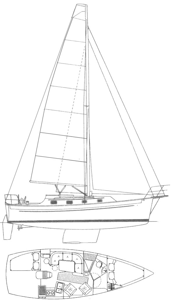 Seaward Eagle drawing on sailboatdata.com
