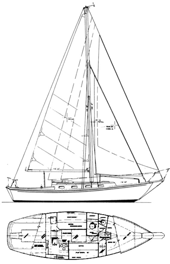 SEAWIND MK II CUTTER (ALLIED) drawing