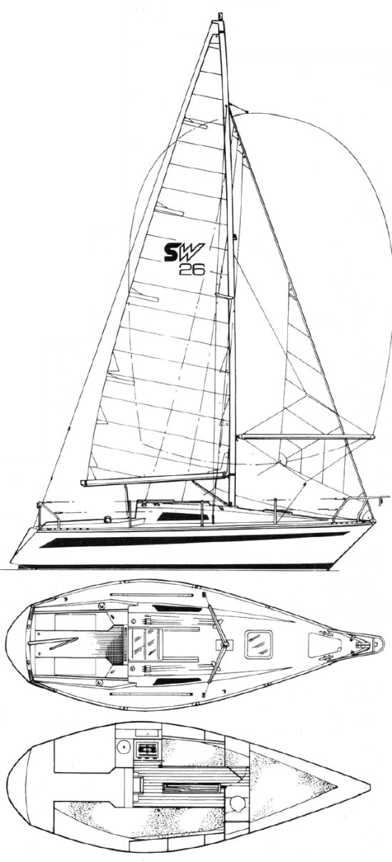 Seawolf 26 drawing on sailboatdata.com