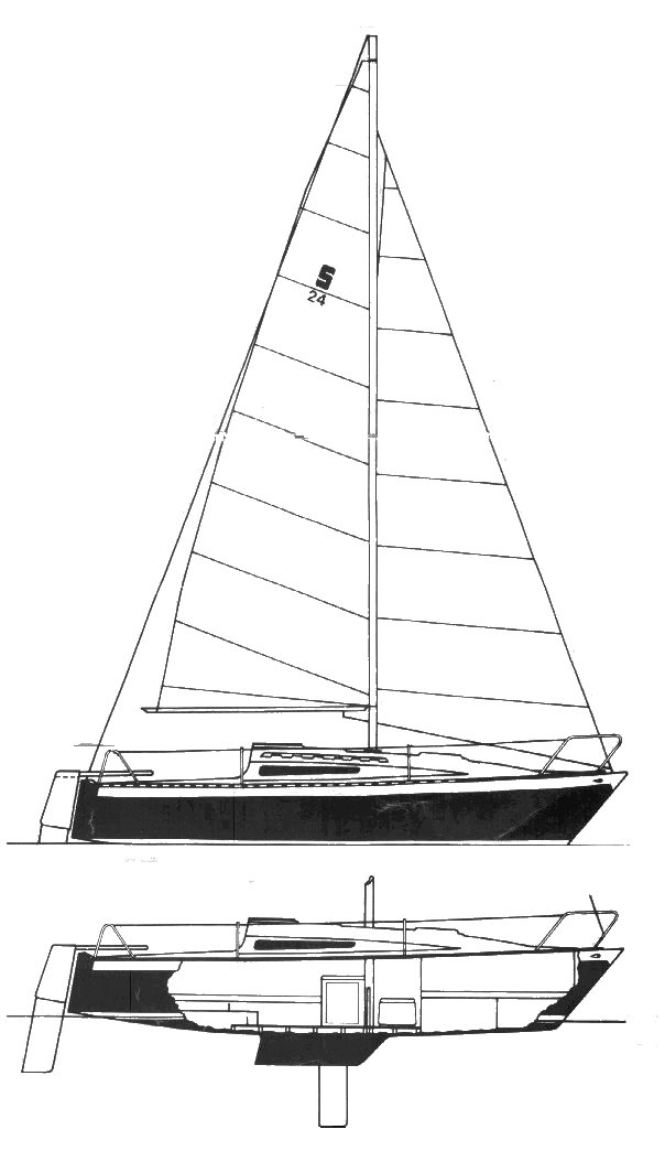 Seidelman 24 drawing on sailboatdata.com