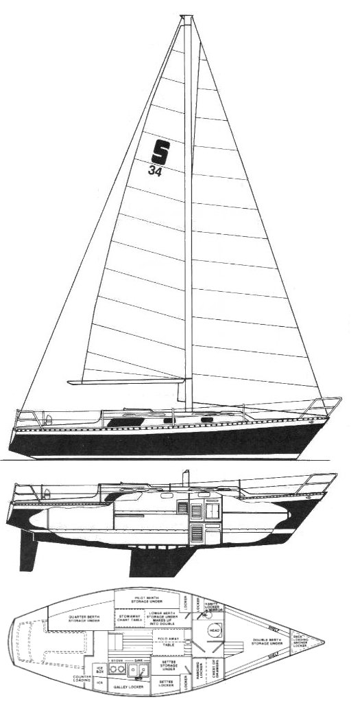 Seidelmann 34 drawing on sailboatdata.com