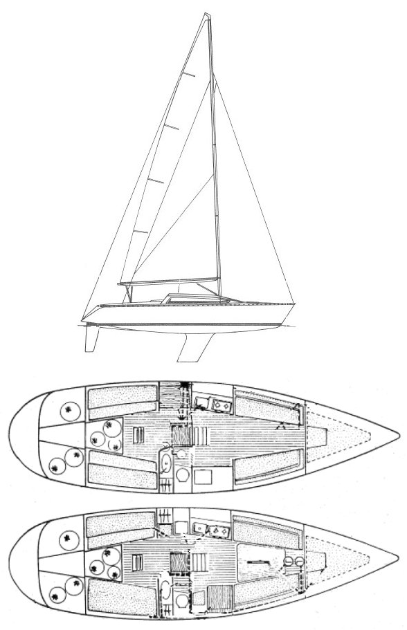 Selection 37 drawing on sailboatdata.com