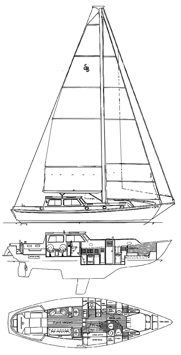 Shannon 43 PH drawing on sailboatdata.com