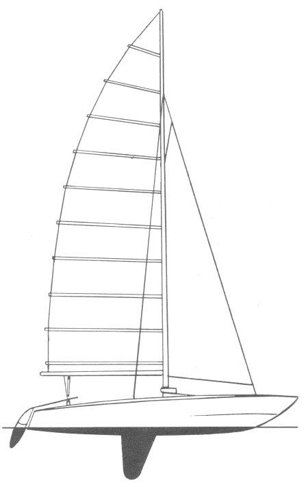 SHARK CATAMARAN drawing