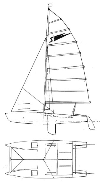 Shearwater Mk III drawing on sailboatdata.com