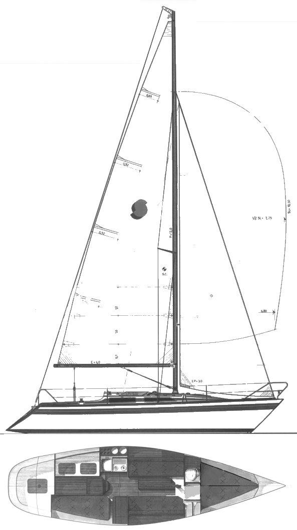 SIESTA 32 drawing