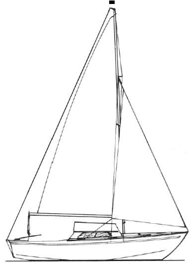 Silhouette I drawing on sailboatdata.com