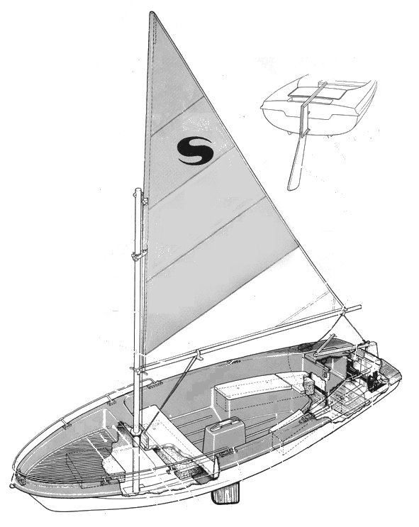 Skipper 14 drawing on sailboatdata.com
