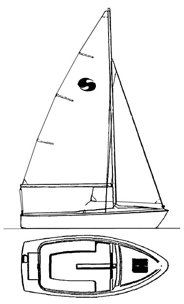 Skipper 17 drawing on sailboatdata.com