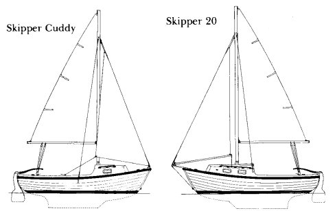 Skipper 20 drawing on sailboatdata.com
