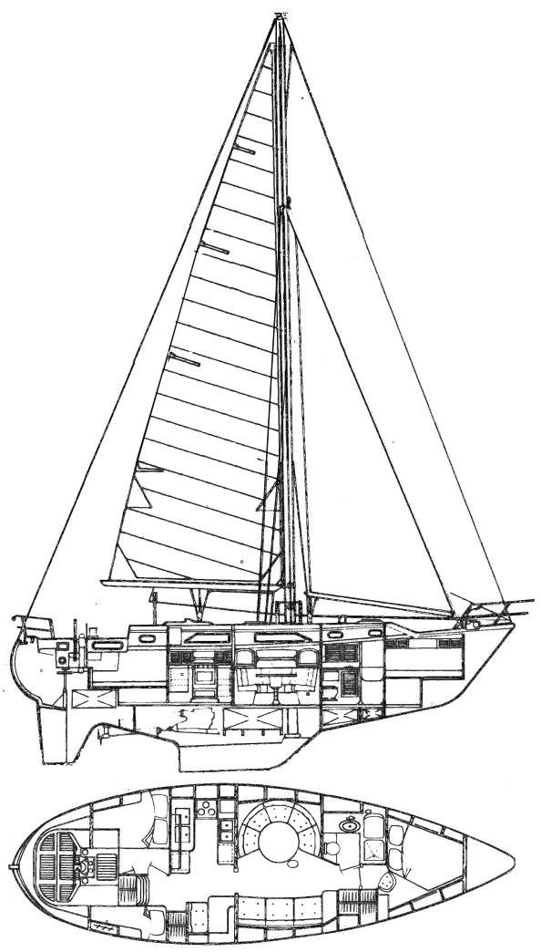 slocum 43 sailboat specifications and details on sailboatdata com