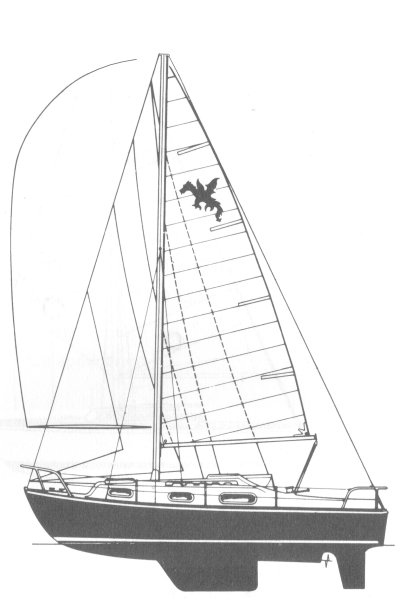 Snapdragon 27 drawing on sailboatdata.com