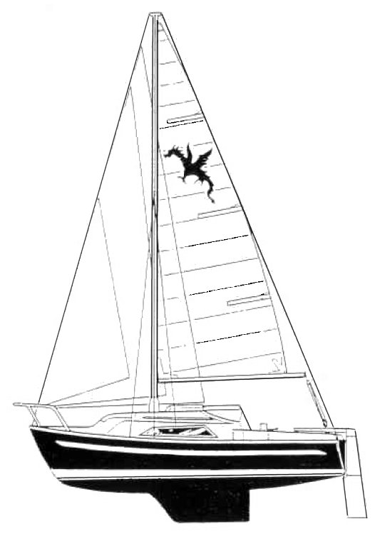 Snapdragon 600 drawing on sailboatdata.com