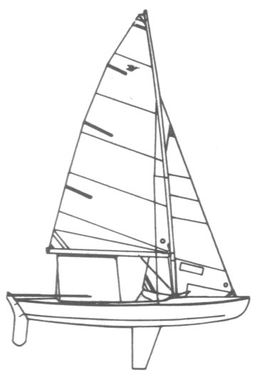 Snipe drawing on sailboatdata.com
