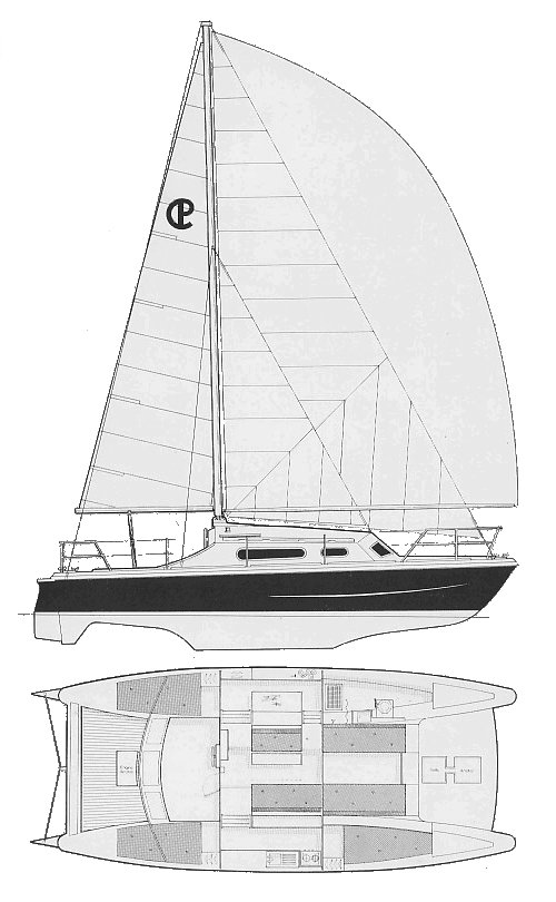 Snowgoose 35 drawing on sailboatdata.com
