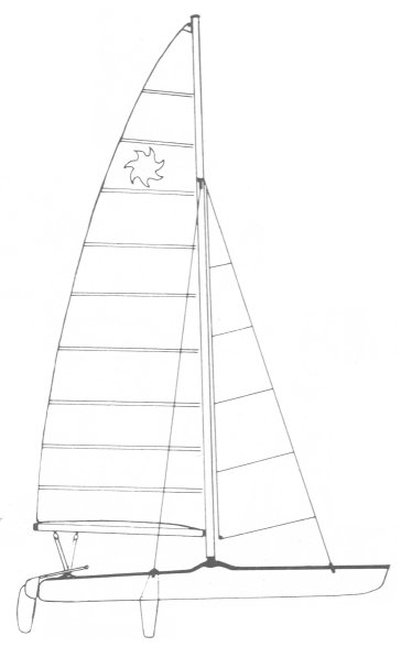Sol Cat 18 drawing on sailboatdata.com