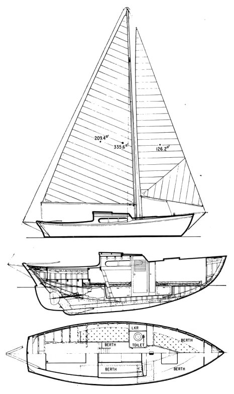 Sound Clipper drawing on sailboatdata.com