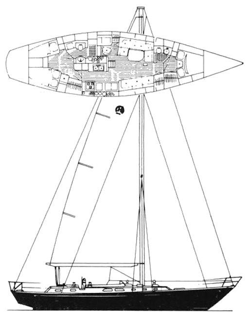 SOU'WESTER 51 CC (HINCKLEY) drawing