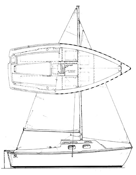 Sovereign 17 drawing on sailboatdata.com