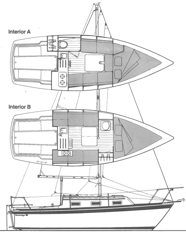 SOVEREIGN 23 drawing