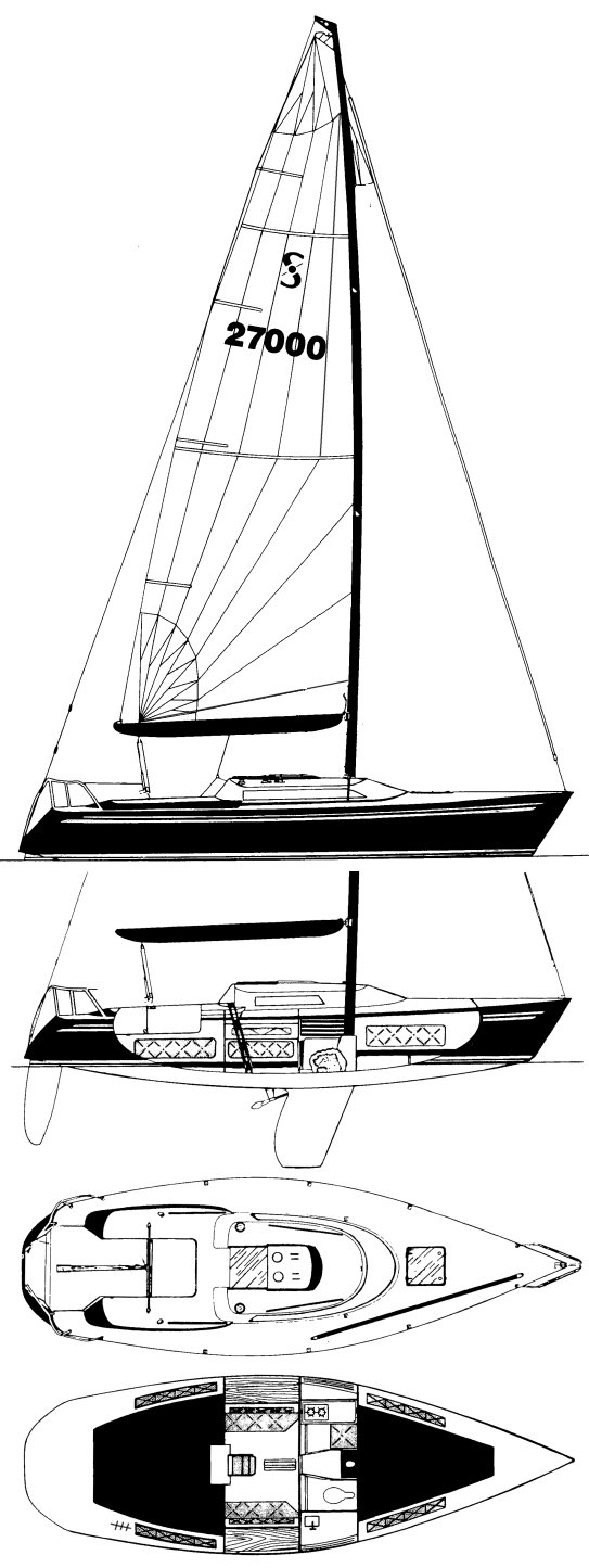 Soverel 27 drawing on sailboatdata.com