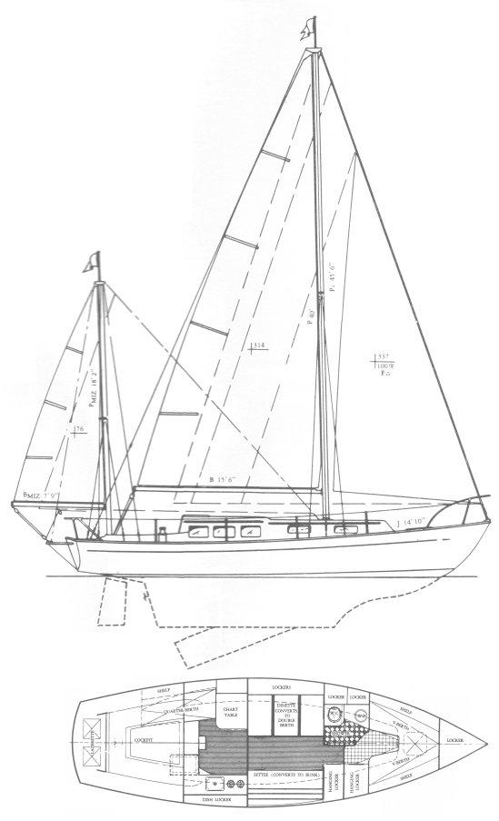 SOVEREL 36 (1965) drawing