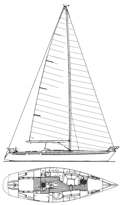 Soverel 50 drawing on sailboatdata.com