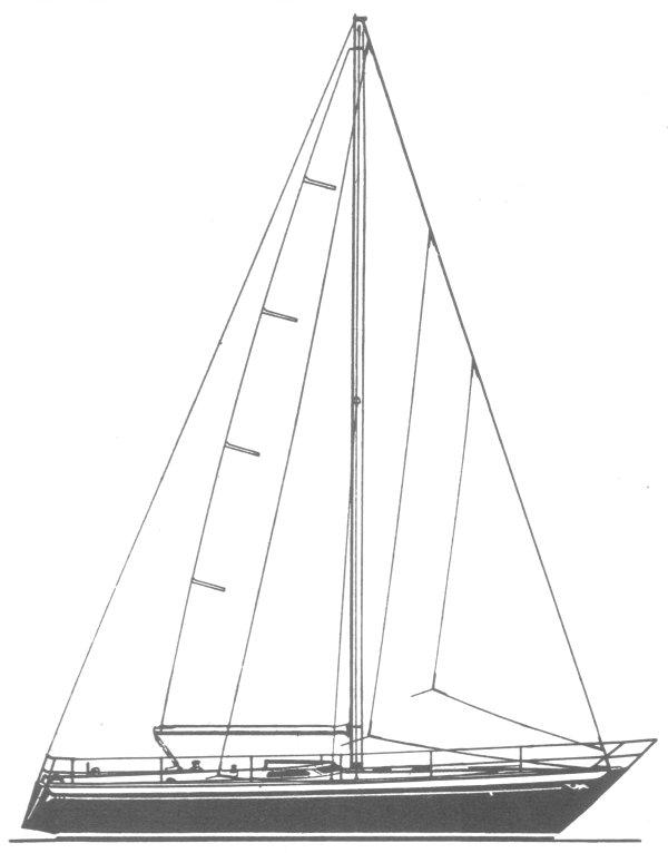 SPANKER 42 drawing