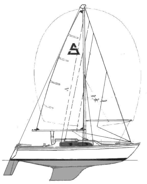 Sparta 1/4 ton drawing on sailboatdata.com