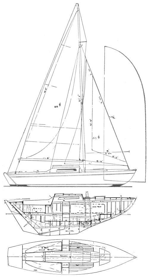 Spartan vers. 2 (Buchanan) drawing on sailboatdata.com
