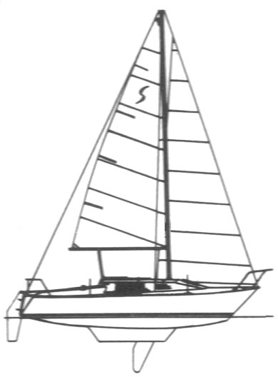 Spindrift 24 drawing on sailboatdata.com