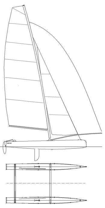 SPITFIRE CATAMARAN drawing