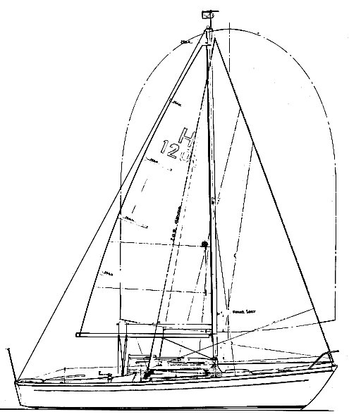 Splinter 21 drawing on sailboatdata.com