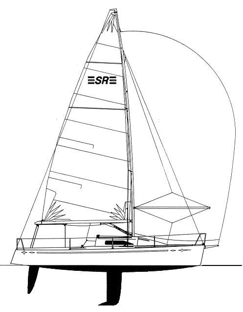 SR 25 drawing on sailboatdata.com