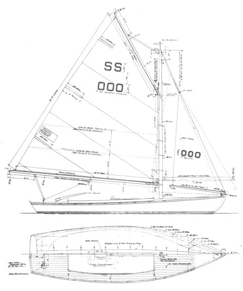 SS Class drawing on sailboatdata.com