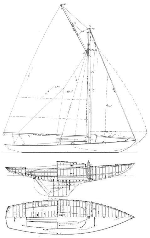 Stamford One-Design drawing on sailboatdata.com