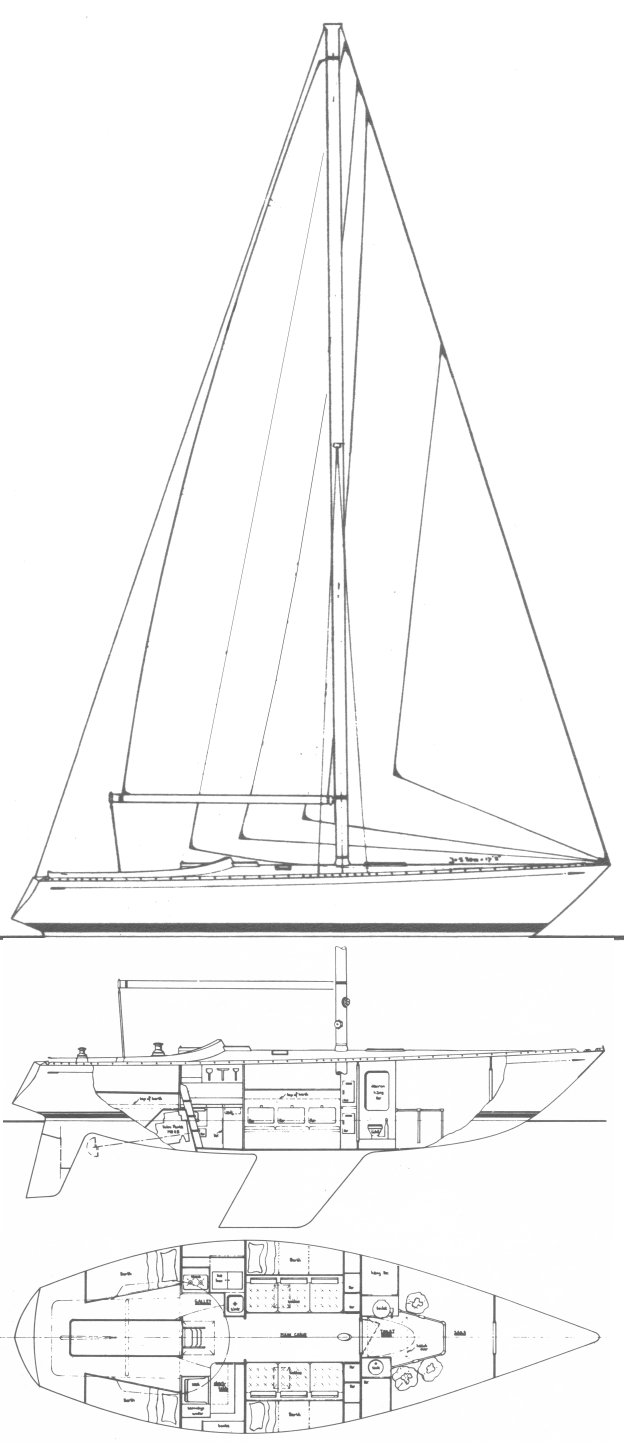 Standfast 40 drawing on sailboatdata.com