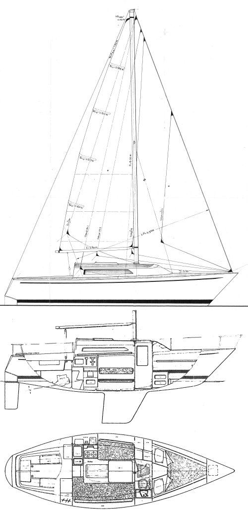Standfast Loper drawing on sailboatdata.com