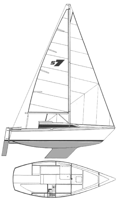 Start 7 drawing on sailboatdata.com