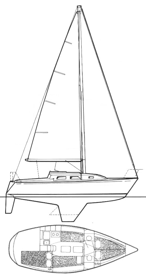 Starwind 27 drawing on sailboatdata.com