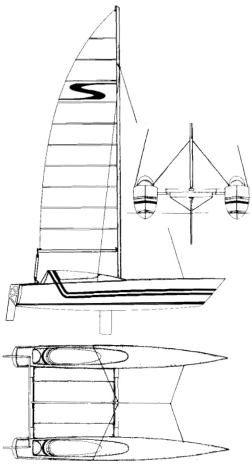 Stiletto 27 drawing on sailboatdata.com