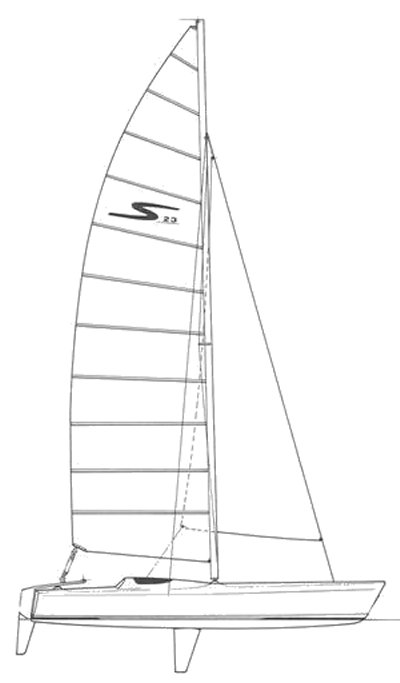 Stilletto 23 drawing on sailboatdata.com