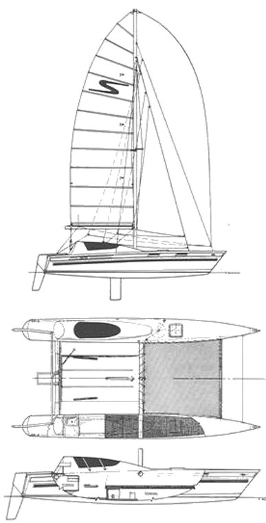 Stilletto 27 SE drawing on sailboatdata.com
