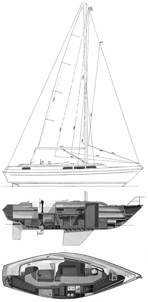 Storebro Royal 33 drawing on sailboatdata.com
