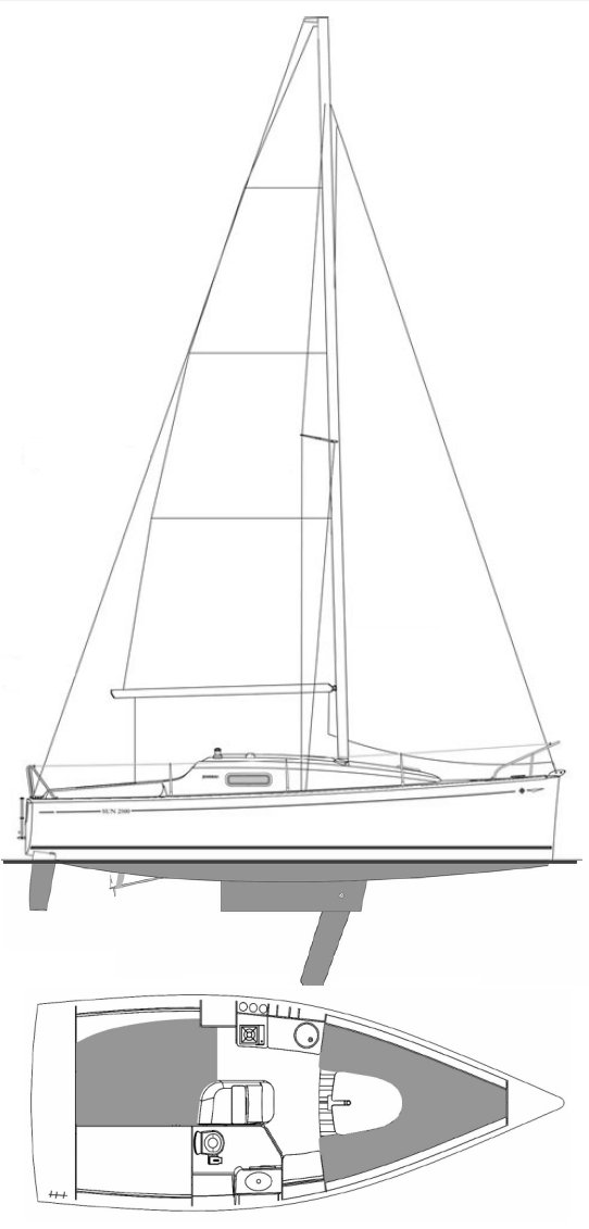 SUN 2500 (JEANNEAU) drawing