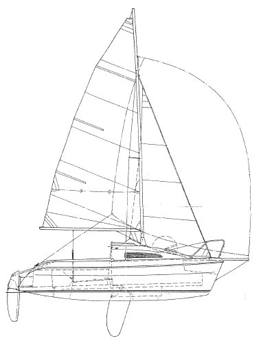 Sun Fast 17 drawing on sailboatdata.com