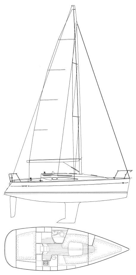 SUN FAST 32I (JEANNEAU) drawing